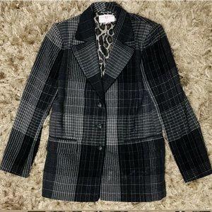 Emanuel Ungaro Collection Plaid 3 Button Jacket 10